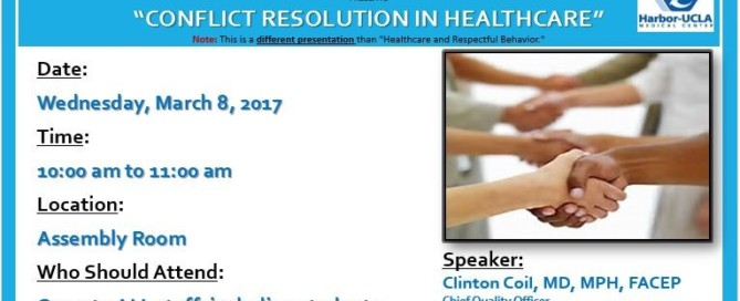 Conflict Resolution in Healthcare